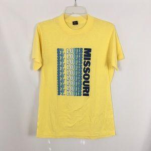 Vintage 70s 80s yellow St Louis souvenir T-shirt